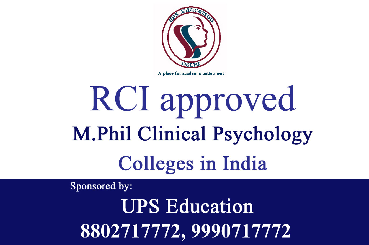 RCI Approved M.Phil Clinical Psychology colleges in India