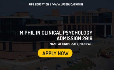 M.Phil Clinical Psychology Admission 2019