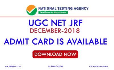 UGC NET DECEMBER 2018 ADMIT CARD