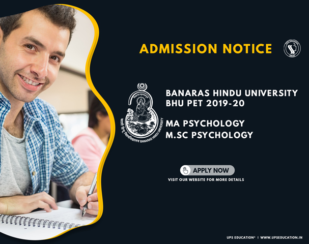 BHU MA/M.Sc Psychology Admission 2019-20