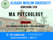 AMU MA Psychology Admission 2019