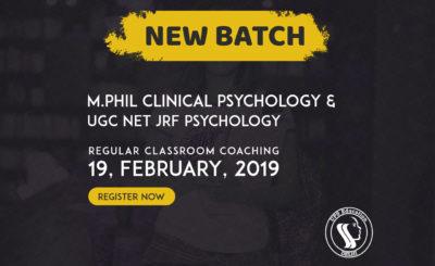 M.Phil Clinical Psychology Entrance 2019