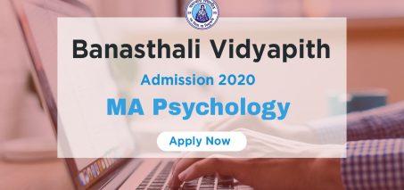 MA Psychology Admission 2020