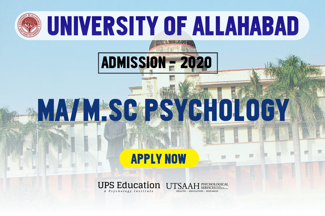 MA Psychology Admission in allahabad university 2020
