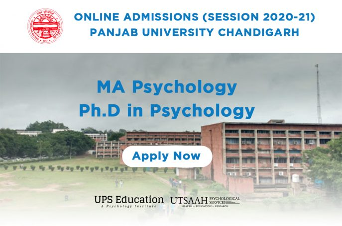 Panjab University (PU) MA/PhD Psychology Admission 2020 Started