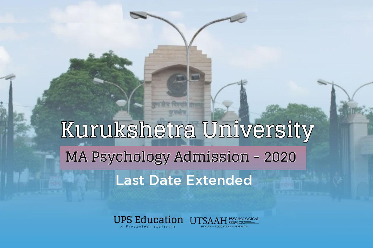 Kurukshetra University MA Psychology – 2020