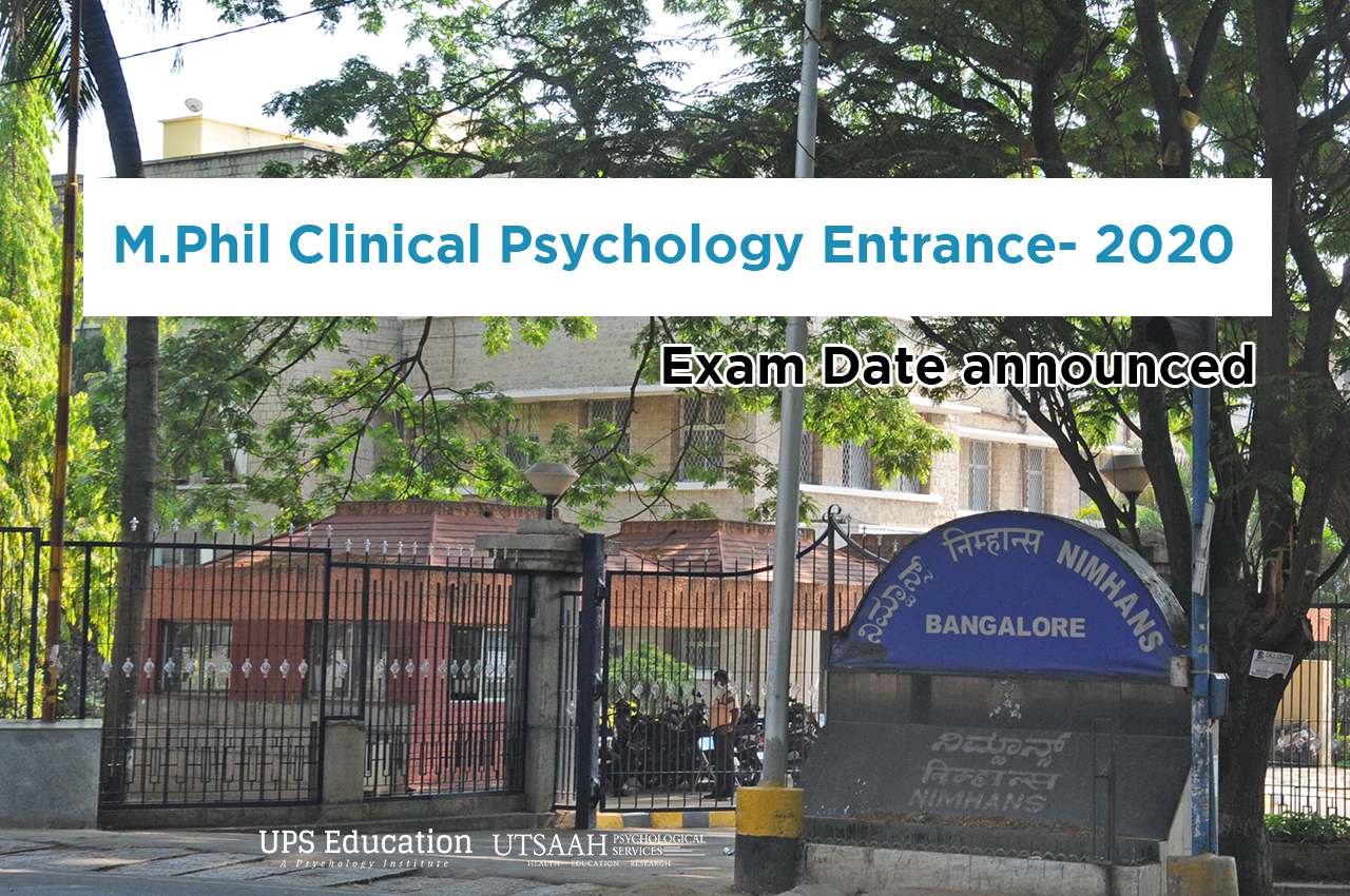 NIMHANS M.Phil Clinical Psychology Entrance Date 2020