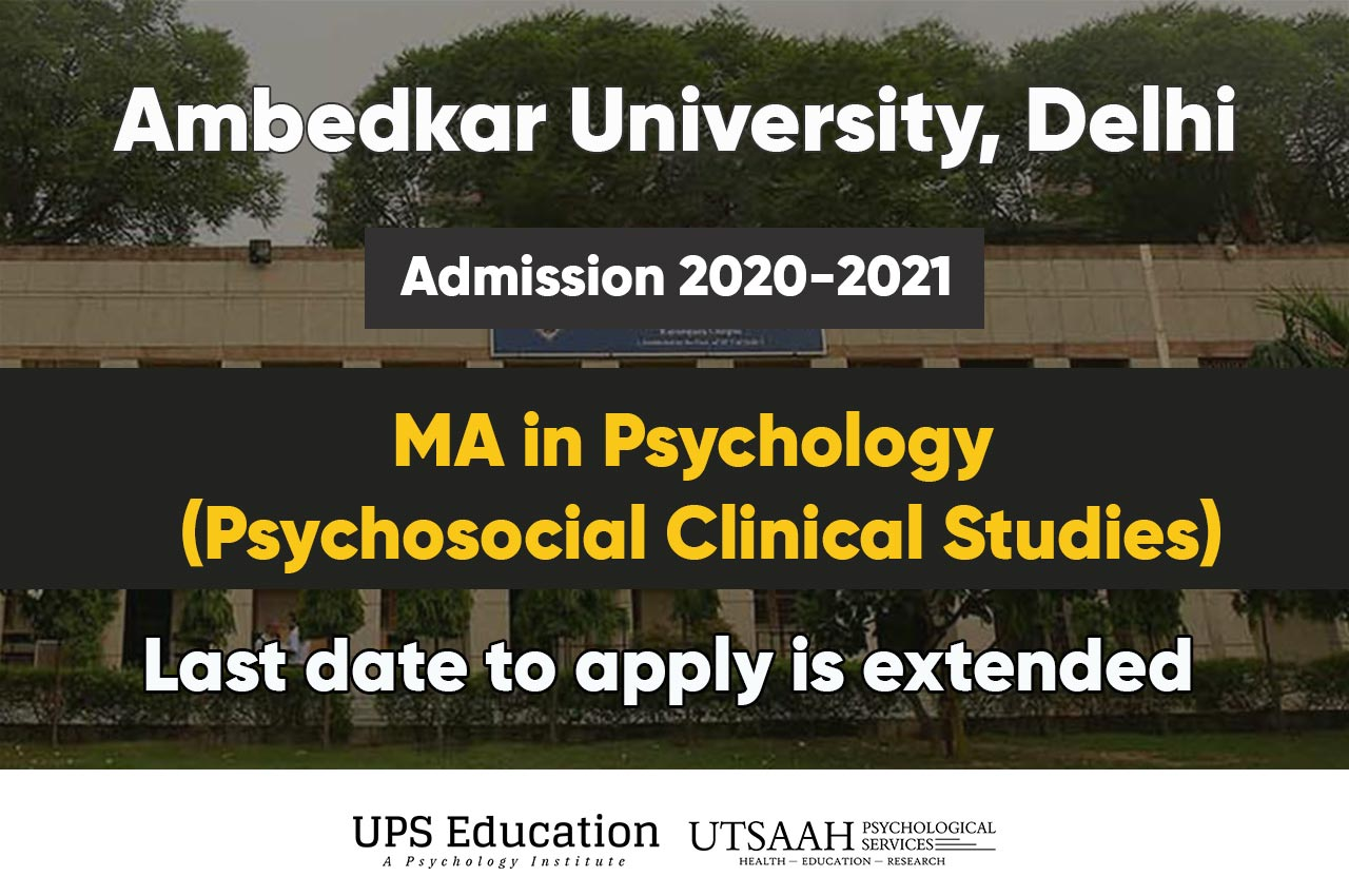 AUD MA Psychology Online application 2020 last date extended