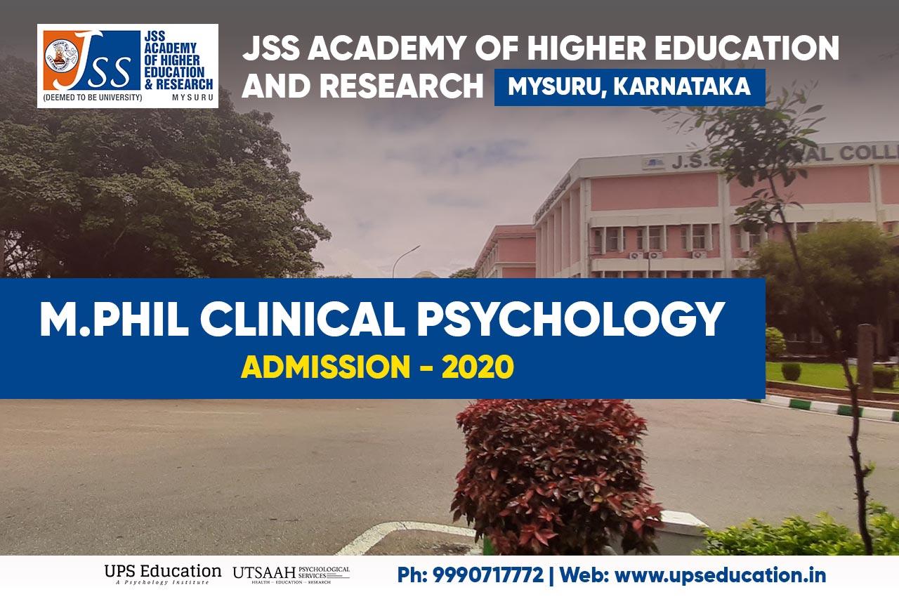 mphil clinical psychology entrance jss 2020