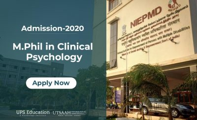 NIEPMD M.Phil Clinical Psychology Admission 2020