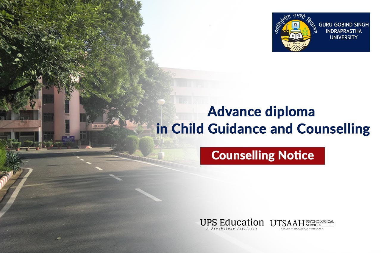 Counselling Notice for Advance diploma in Child Guidance and Counselling 2020