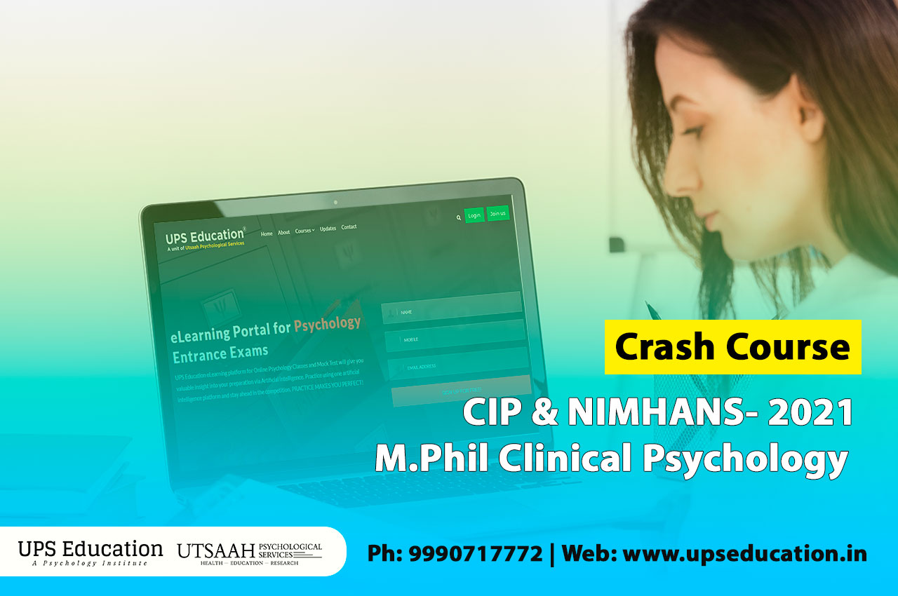 Crash Course for CIP and NIMHANS M.Phil Clinical Psychology 2021