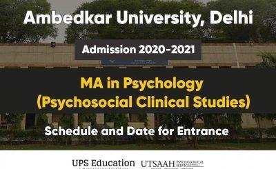 AUD MA Psychology exam rescheduled 2020