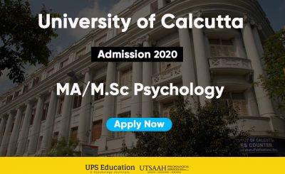 MA/M.Sc Applied Psychology Calcutta University Admission 2020