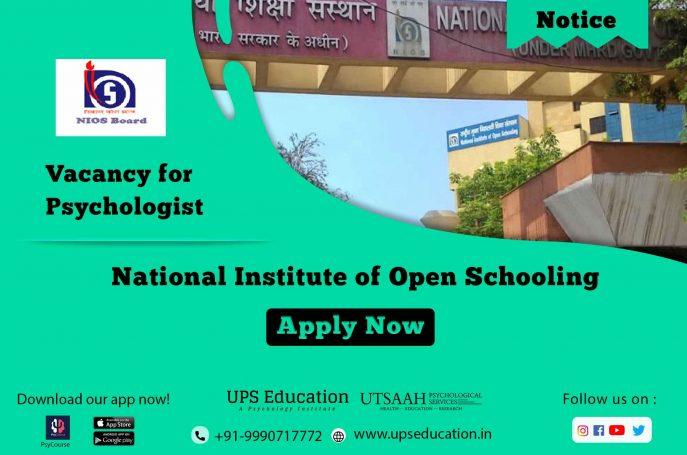 NIOS Psychology vacancy