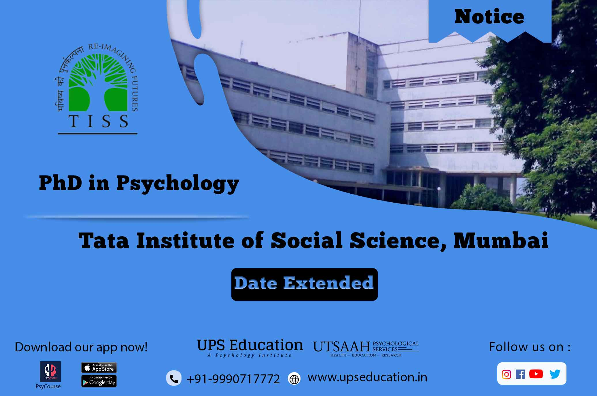 Tiss Phd in Psychology admission 2021.