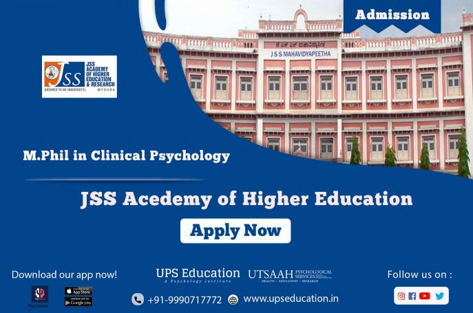 JSS Acedemy o Higher Education M.Phil in Cinical Psychology Form for the session 2021