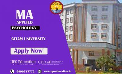 gitam university ma in applied psychology