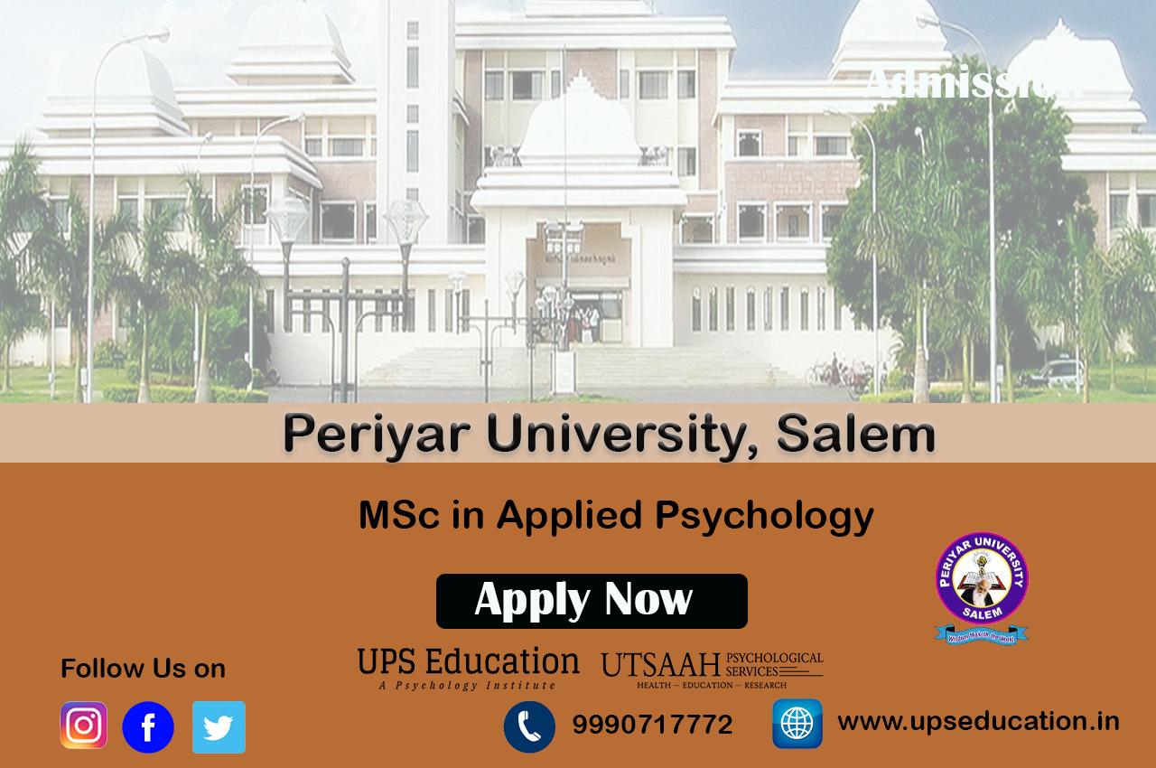 Periyar University MSc in Applied Psychology Admission
