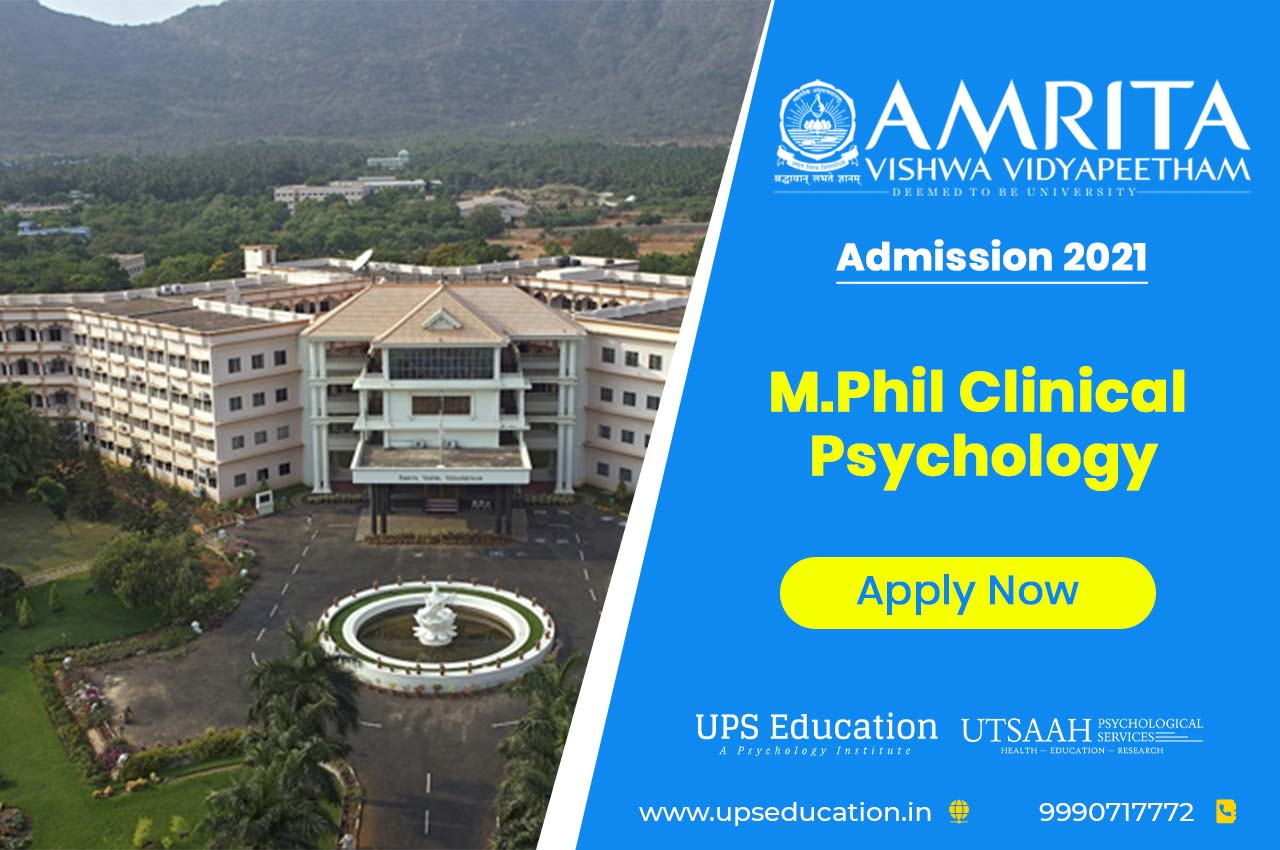 Amrita School of Medicine M.Phil Clinical Psychology Admission 2021 – Apply Now