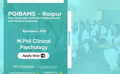 PGI Raipur M.Phil Clinical Psychology Admission 2021