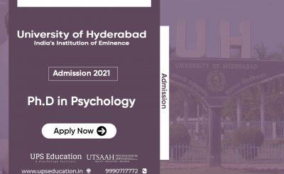 University of Hyderabad Ph.D Psychology Admission 2021