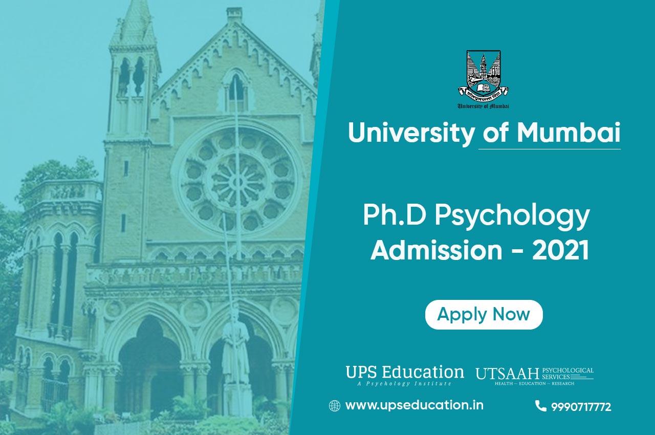 PhD Psychology Admission 2021 – Mumbai University