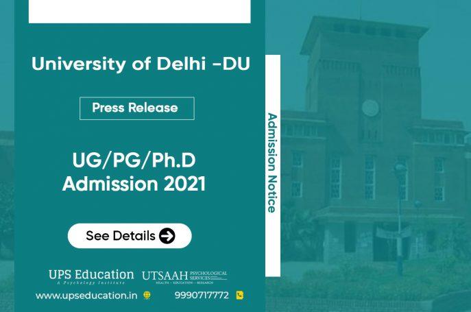 Important regarding Delhi University Admission 2021