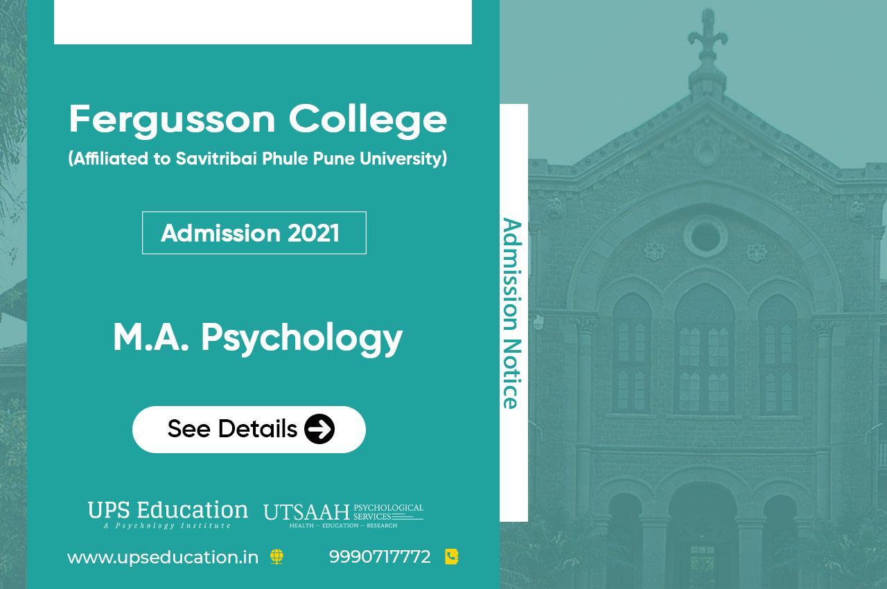 Fergusson College MA Psychology Admission 2021 – UPS Education