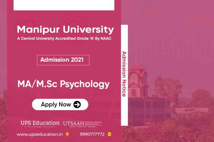 MA/M.Sc Psychology Admission 2021 Open in Manipur University