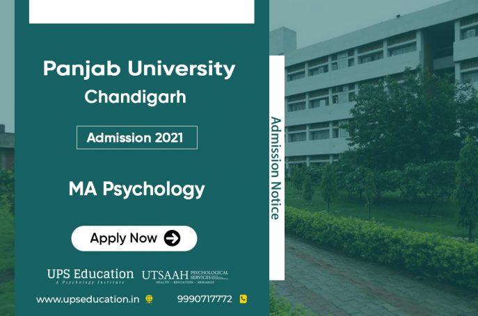 Panjab University MA Psychology Admission Open for 2021 session – UPS Education