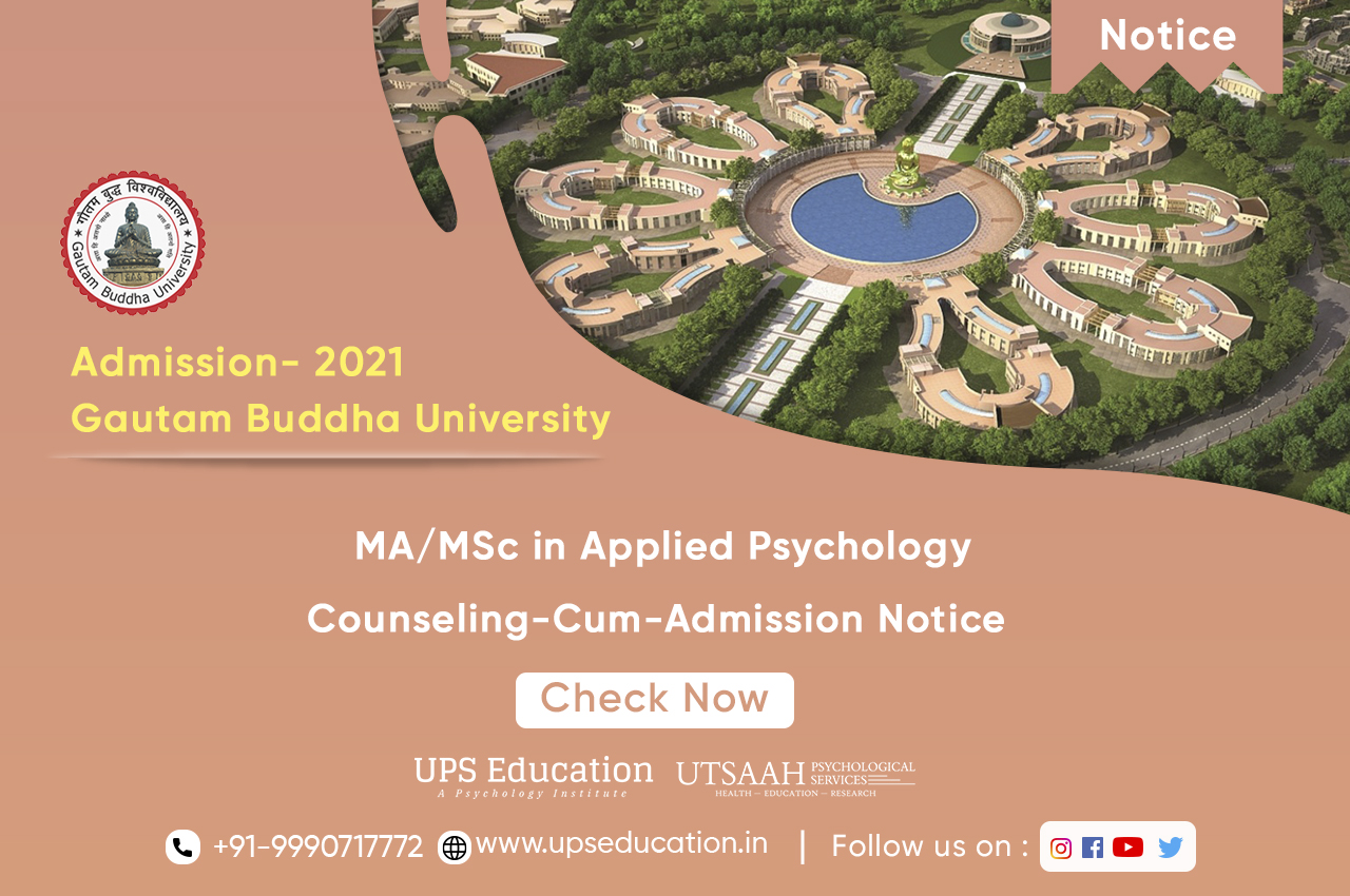Online-Counseling-Cum-Admission Notice from GBU –UPS Education