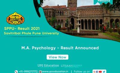 SPPU MA Psychology Examination Result-2021