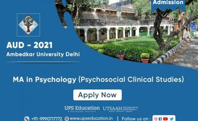 Ambedkar University (AUD) MA Psychology Admission for 2021 session
