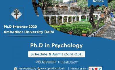 Ph.D Entrance 2020 Schedule out for AUD Delhi
