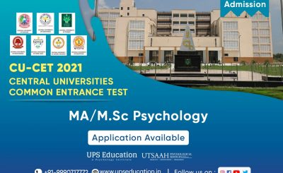 MA/MSc Psychology Admission 2021 Open in Central Universities (CUCET-21)