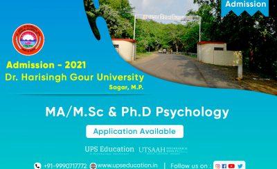 Dr. Harisingh Gour University MA/MSc Psychology & Ph.D Psychology Admission 2021—UPS Education