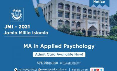 JMI Admit card MA Psychology 2021 —UPS Education