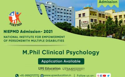 NIEPMD Chennai M.Phil Clinical Psychology Admission 2021 – UPS Education