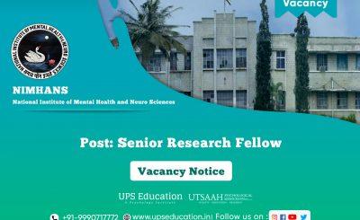 Senior Research Fellow Vacancy in NIMHANS