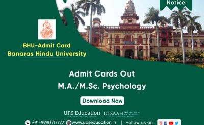 MA/M. Sc. Psychology in BHU, PET Admit Card Released for 2021—UPS Education