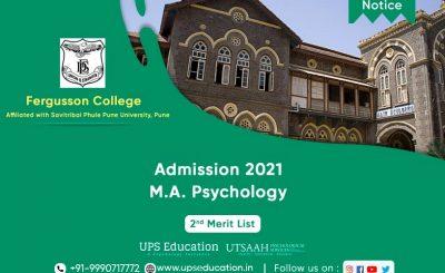 Fergusson College, Merit list for MA Psychology Admission 2021—UPS Education