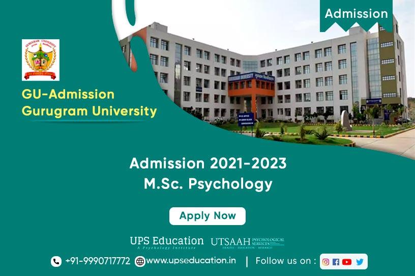 M.Sc. Psychology Admission Open in Gurugram University 2021—UPS Education