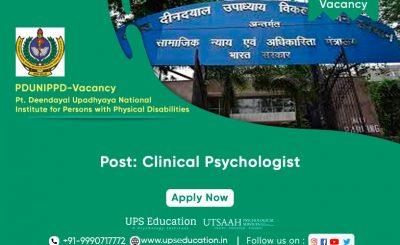 Clinical Psychologist, Vacancy at Divyangjan—UPS Education