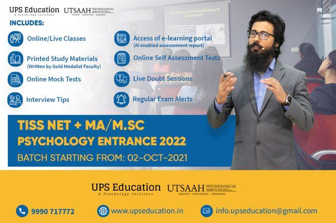 TISS NET and MA/M.Sc Psychology Entrance Preparation 2022 – UPS Education